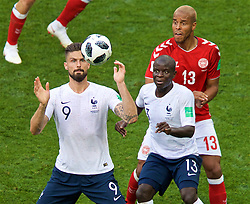 MOSCOW, RUSSIA - Tuesday, June 26, 2018: France's Olivier Giroud during the FIFA World Cup Russia 2018 Group C match between Denmark and France at the Luzhniki Stadium. (Pic by David Rawcliffe/Propaganda)