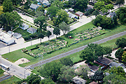 A community garden by railroad tracks in northern Minneapolis