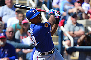 PHOENIX, AZ - MARCH 04:  Adrian Beltre #29 of the Texas Rangers at bat during the spring training game against the Milwaukee Brewers at Maryvale Baseball Park on March 4, 2017 in Phoenix, Arizona.  (Photo by Jennifer Stewart/Getty Images)