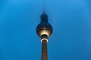 Fernsehturm, the Berlin television tower located near Alexanderplatz, Berlin,, Germany