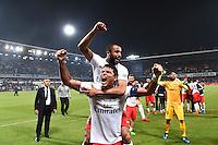 Joie PSG Champion - Lucas MOURA / Thiago SILVA - 16.05.2015 - Montpellier / Paris Saint Germain - 37eme journée de Ligue 1<br />Photo : Alexandre Dimou / Icon Sport