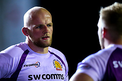 Josh Caulfield of Exeter Chiefs - Mandatory by-line: Robbie Stephenson/JMP - 27/09/2019 - RUGBY - Welford Road - Leicester, England - Leicester Tigers v Exeter Chiefs - Premiership Rugby Cup