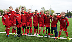 NEWTOWN, WALES - Saturday, May 2, 2015: Ball boys for the FAW Welsh Cup final matchbetween The New Saints and Newtown at Latham Park. (Pic by Ian Cook/Propaganda)