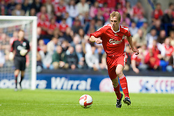 BIRKENHEAD, ENGLAND - Saturday, July 12, 2008: Liverpool's Stephen Darby during his side's first pre-season match of the 2008/2009 season against Tranmere Rovers at Prenton Park. (Photo by David Rawcliffe/Propaganda)