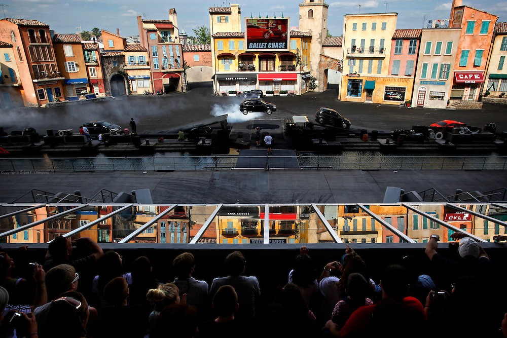 Orlando, Florida, USA, 20090325:   The Disney Hollywood Studios in Orlando. A car chase with jumps and smoke in the Lights, Motors, Action stunt show. Photo: Orjan F. Ellingvag/ Dagbladet/ Corbis