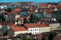 CZECH REPUBLIC PRAGUE JUL00 - Rooftops of Prague's Zizkov district, a traditional workers stronghold where the majority of Prague's Romany population has settled over the past decades.......jre/Photo by Jiri Rezac....© Jiri Rezac 2000....Tel:   +44 (0) 7050 110 417..Email: info@jirirezac.com..Web:   www.jirirezac.com