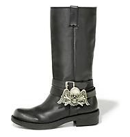 Aldo Black Skull Boot