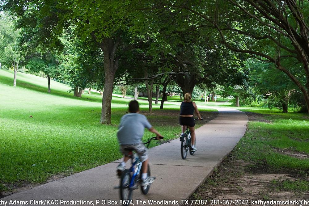 Town Lake, in downtown Austin, Texas, was created by damming the Colorado River. Wise development created a people-friendly linear park.  Hike and bike paths line the lake along with parks, restaurants, hotels, and condomeniums.