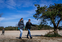 18-03-2018 NED: We hike to change diabetes, Soest<br /> Training voor de Camino 2018 op de Soesterduinen / Andre, Miranda