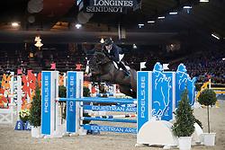 Vermeiren Jan, BEL, Le Blue Diamond vt Ruytershof<br /> Young Stallions 5 years of age<br /> Vlaanderens Kerstjumping Memorial Eric Wauters<br /> © Dirk Caremans<br /> 27/12/2016