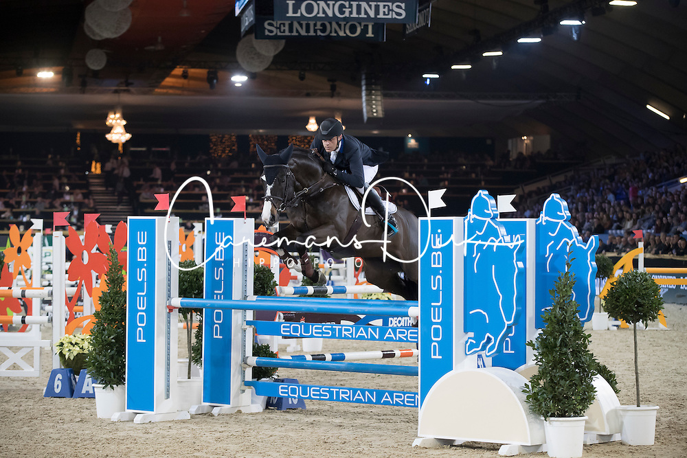 Vermeiren Jan, BEL, Le Blue Diamond vt Ruytershof<br /> Young Stallions 5 years of age<br /> Vlaanderens Kerstjumping Memorial Eric Wauters<br /> &copy; Dirk Caremans<br /> 27/12/2016