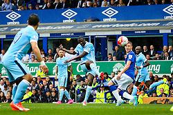 Yaya Toure of Manchester City fires a shot at goal  - Mandatory byline: Matt McNulty/JMP - 07966386802 - 23/08/2015 - FOOTBALL - Goodison Park -Everton,England - Everton v Manchester City - Barclays Premier League
