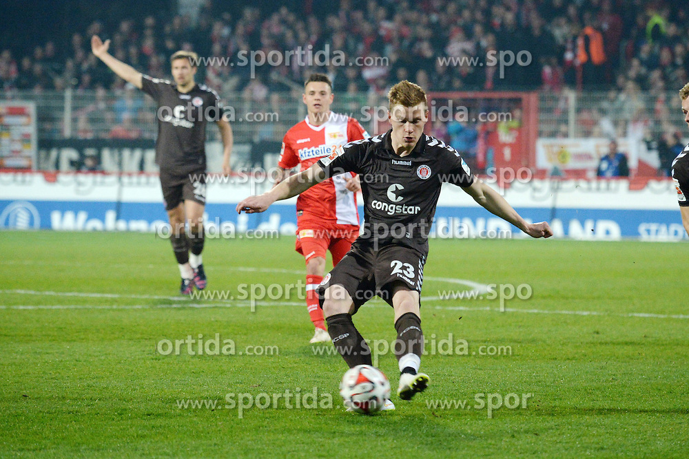 20.03.2015, Alte Foersterei, Berlin, GER, 2. FBL, 1. FC Union Berlin vs FC St. Pauli, 26. Runde, im Bild vl. Halstenberg Marcel ( FC St. Pauli ) // during the 2nd German Bundesliga 26th round match between 1. FC Union Berlin and FC St. Pauli at the Alte Foersterei in Berlin, Germany on 2015/03/20. EXPA Pictures &copy; 2015, PhotoCredit: EXPA/ Eibner-Pressefoto/ Vallejos<br /> <br /> *****ATTENTION - OUT of GER*****