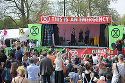 Green Party MP Caroline Lucas is joined on stage by The Green Party co-leaders Jonathan Bartley and Siân Berry. Caroline Lucas then addressed the gathered crowds. . <br /> <br /> Richard Hancox | EEm 22042019