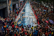 SHENZHEN, CHINA - China Out - Finland out<br /> <br /> 200m 3D Street Painting Sets New Guinness Record<br /> <br /> Photo shows a 3D street painting by the Wan brothers in Shenzhen, Guangdong Province of China. The 3D street painting, 200 meters in length and 6.1 meters in width, set a new Guinness World Record. ©Exclusivepix