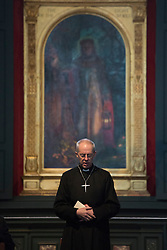 © licensed to London News Pictures. London, UK 16/03/2013. Archbishop of Canterbury the Most Rev Justin Welby saying a pray in St.Paul's Cathedral with prayers on Saturday 16 March 2013. Photo credit: Tolga Akmen/LNP