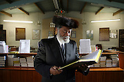 Rabbi Yisrael Oriel Ben Moshe Shlomo, an African Rabbi from Cameroon who converted to Judaism 20 years ago. He prays at the Persian Hebrew congregation and the Moroccan 'Hida' Synagogue and Bet Midrash on East Bank, Stamford Hill, London.