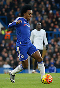 Chelsea's best player of the half Willian during the Barclays Premier League match between Chelsea and Everton at Stamford Bridge, London, England on 16 January 2016. Photo by Andy Walter.