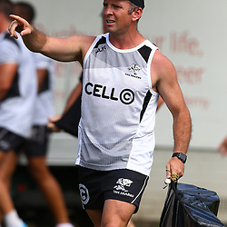 DURBAN, SOUTH AFRICA, 25 January 2016 -  Johan Pretorius Head Strength &amp; Conditioning Coach during The Cell C Sharks Pre Season training for the 2016 Super Rugby Season at Growthpoint Kings Park in Durban, South Africa. (Photo by Steve Haag)<br /> images for social media must have consent from Steve Haag