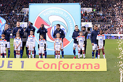 March 9, 2019 - Strasbourg, France - 25 LUDOVIC AJORQUE (STRA) - 14 SANJIN PRCIC (STRA) - 26 ADRIEN THOMASSON (STRA) - 27 KENNY LALA (STRA) - ENTREE DES JOUEURS (Credit Image: © Panoramic via ZUMA Press)