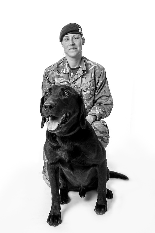 Kerry Baxter, Army - Royal Army Veterinary Private, Dog Handler, Operations: Herrick, Tonic is an IED Detection Dog,  Veterans Portrait Project UK Sennelager Germany