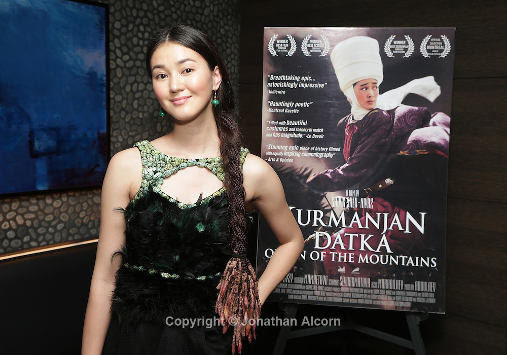 Actress Elina Abai Kyzy at The Wrap's screening of Kurmanjan Datka Queen of the Mountains at the iPic  in Los Angeles on December 4, 2014