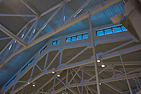Architectural interior photography of Sageglass windows at the Immanuel Bible Church in Springfield Virginia