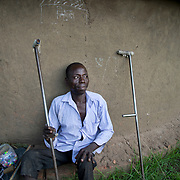 Uganda.  Moyo. Sunday Abilei,  shoemaker.