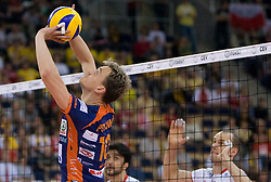 Veljko Petkovic of ACH at 2nd Semifinal match of CEV Indesit Champions League FINAL FOUR tournament between ACH Volley, Bled, SLO and Trentino BetClic Volley, ITA, on May 1, 2010, at Arena Atlas, Lodz, Poland. Trentino defeated ACH 3-1. (Photo by Vid Ponikvar / Sportida)