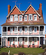 Edwardian style homes in Hamilton Gardens, Felixstowe, Suffolk, England