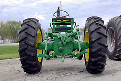 04 May 2013:   Arranged to coincide and be a part of the Red Corridor Route 66 festival, the village of Lexington hosts an antique tractor show.  Roger Whaley is the chairman of the organizing committee.  1958 John Deere model 430.
