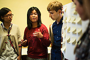 SAN FRANCISCO, CA – JANUARY 13, 2016: Minerva college students participate in an Inforum co-curricular session at the Commonwealth Club in San Francisco. Inform gatherings are experiential learning opportunities designed to align with current curriculum.<br /> <br /> Minerva is a unique 21st century university built on a global four-year education model. It is deliberately designed to enhance intellectual growth and prepare students for success in today's rapidly changing global context. Founded in 2014, the university targets the developing world's rising middle class who seek an elite American education. With a 2.8% acceptance rate among the founding class, Minerva is the most selective undergraduate program in U.S. history.