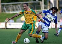 Photo: Maarten Straetemans.<br /> FC Zwolle v Norwich City. Pre Season Friendly. 25/07/2007.<br /> Lee Croft (left) of Norwich City