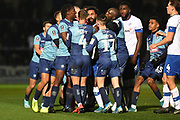 Tranmere Rovers forward Stefan Payne (45) argues with the The Wycombe Wanderers players during the The FA Cup match between Wycombe Wanderers and Tranmere Rovers at Adams Park, High Wycombe, England on 20 November 2019.