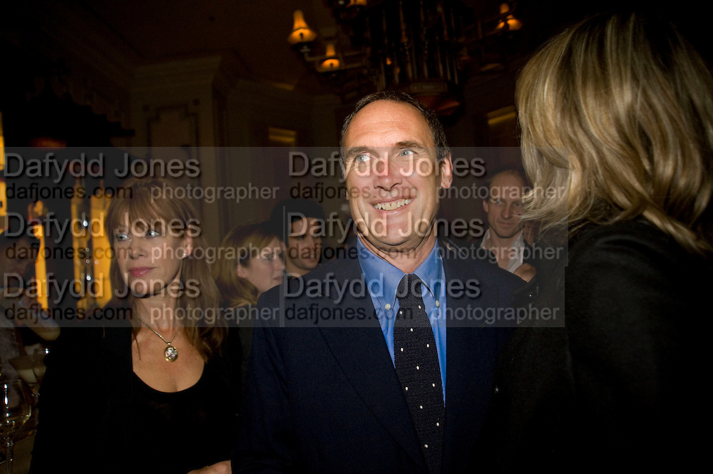 NETTIE MASON; A.A. GILL. Book party; Jessica Adams, Maggie Alderson, Imogen Edwards-Jones and Kathy Lette host the launch of 'In Bed With.' Artesian, The Langham, Portland Place. London. 11 February 2009 *** Local Caption *** -DO NOT ARCHIVE-&copy; Copyright Photograph by Dafydd Jones. 248 Clapham Rd. London SW9 0PZ. Tel 0207 820 0771. www.dafjones.com.<br /> NETTIE MASON; A.A. GILL. Book party; Jessica Adams, Maggie Alderson, Imogen Edwards-Jones and Kathy Lette host the launch of 'In Bed With.' Artesian, The Langham, Portland Place. London. 11 February 2009