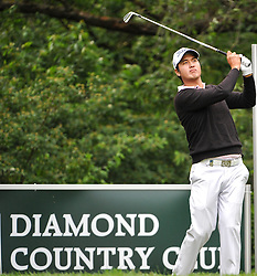 05.06.2014, Country Club Diamond, Atzenbrugg, AUT, Lyoness Golf Open, im Bild Shiwan Kim (KOR) // Shiwan Kim (KOR) in action during the Austrian Lyoness Golf Open at the Country Club Diamond, Atzenbrugg, Austria on 2014/06/05. EXPA Pictures © 2014, PhotoCredit: EXPA/ Sascha Trimmel