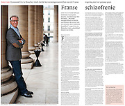 Assignment. Portrait of Eric le Boucher, editor of the magazine Enjeux-Les Echos, founder of Slate.fr (France)