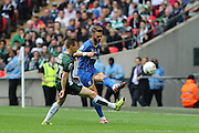 Callum Kennedy defender for AFC Wimbledon (3) during the Sky Bet League 2 play off final match between AFC Wimbledon and Plymouth Argyle at Wembley Stadium, London, England on 30 May 2016. Photo by Stuart Butcher.