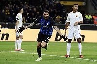 esultanza gol Matias Vicino goal celebration <br /> Milano 21-01-2018 Stadio Giuseppe Meazza Football Calcio Serie A 2017/2018 Inter - Roma. Foto Image Sport / Insidefoto
