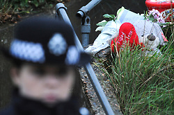 © Licensed to London News Pictures. 06/01/2016<br /> Flowers and a love bear at the property this morning.<br /> Ex-Eastenders actress Sian Blake's home in Erith,Kent has turned into a crime scene (06.01.2016) with officers from the Met's Homicide and Major Crime Command leading the murder investigation.<br /> <br /> (Byline:Grant Falvey/LNP)