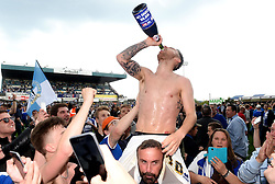 Matt Taylor of Bristol Rovers celebrates promotion from Sky Bet League 2 up to Sky Bet League 1  - Mandatory by-line: Joe Meredith/JMP - 07/05/2016 - FOOTBALL - Memorial Stadium - Bristol, England - Bristol Rovers v Dagenham and Redbridge - Sky Bet League Two