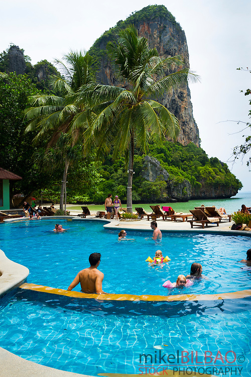 Railay Bay Resort & Spa hotel.  Railay West Beach. Railay. Krabi province, Thailand.