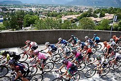 The peloton climb above Gemona during Stage 9 of 2019 Giro Rosa Iccrea, a 125.5 km road race from Gemona to Chiusaforte, Italy on July 13, 2019. Photo by Sean Robinson/velofocus.com