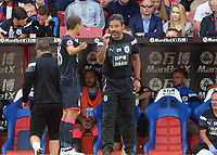 Football - 2017 / 2018 Premier League - Crystal Palace vs. Huddersfield Town<br /> <br /> Huddersfield Manager David Wagner talks to Chris Lowe at Selhurst Park.<br /> <br /> COLORSPORT/ANDREW COWIE