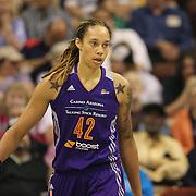 Brittney Griner, Phoenix Mercury, during the Connecticut Sun Vs Phoenix Mercury WNBA regular season game at Mohegan Sun Arena, Uncasville, Connecticut, USA. 23rd May 2014. Photo Tim Clayton