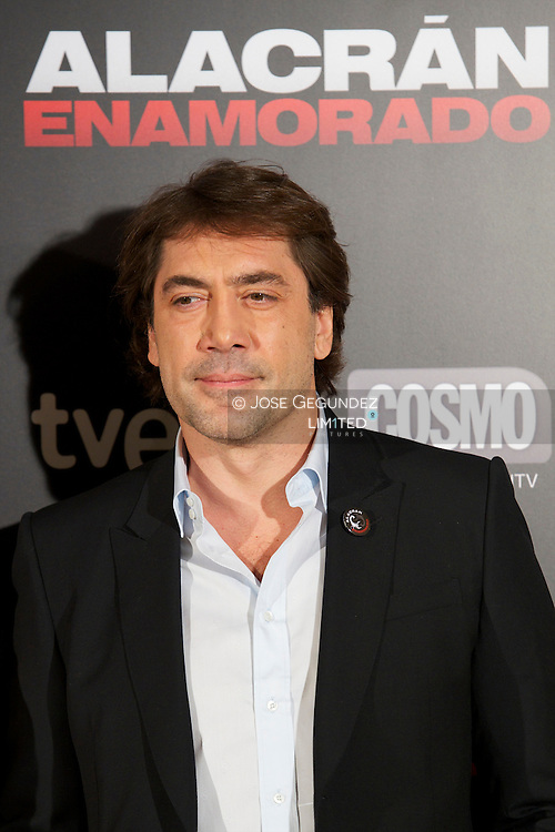 Javier Bardem attends Alacran enamorado photocall at Princesa Cinema on April 9, 2013 in Madrid