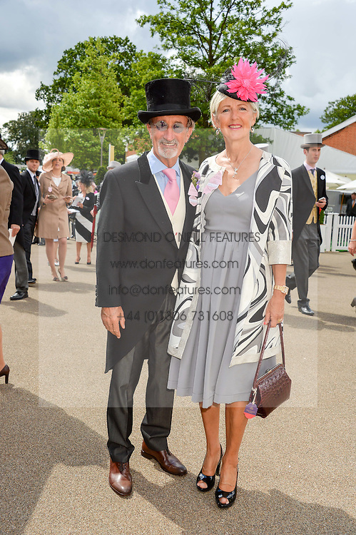 EDDIE JORDAN and his wife MARIE at day two of the Royal Ascot 2016 Racing Festival at Ascot Racecourse, Berkshire on 15th June 2016.