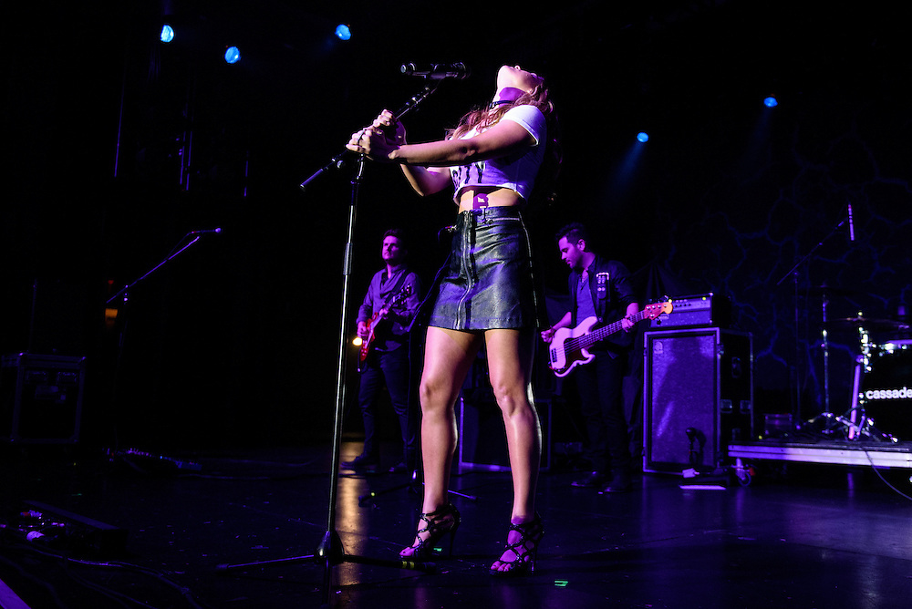 """Photos of Cassadee Pope performing live on the """"I'm Comin' Over"""" Tour 2016 at PlayStation Theater, NYC on February 25, 2016. © Matthew Eisman/ Getty Images. All Rights Reserved"""