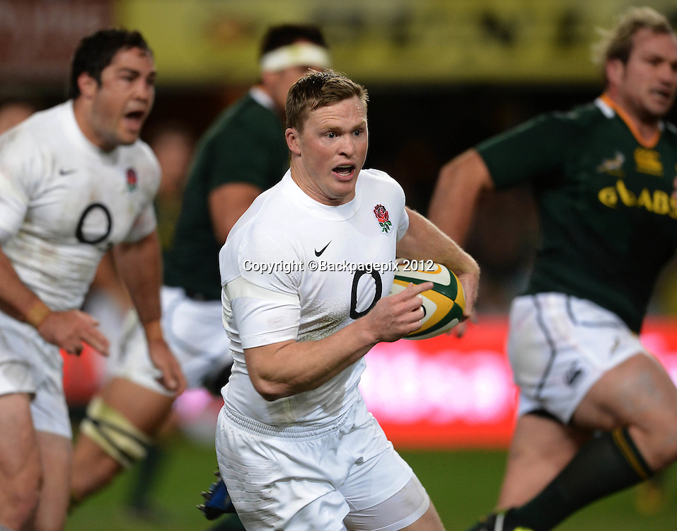 Chris Ashton of England  during the 2012 Castle Incoming Tour test match played against England at the Kings Park Stadium in Durban, South Africa on the 9th of June 2012<br /> Barry Aldworth&copy;Backpagepix