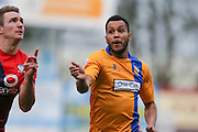 Mansfield Town forward Matt Green  during the Sky Bet League 2 match between Mansfield Town and York City at the One Call Stadium, Mansfield, England on 28 December 2015. Photo by Simon Davies.